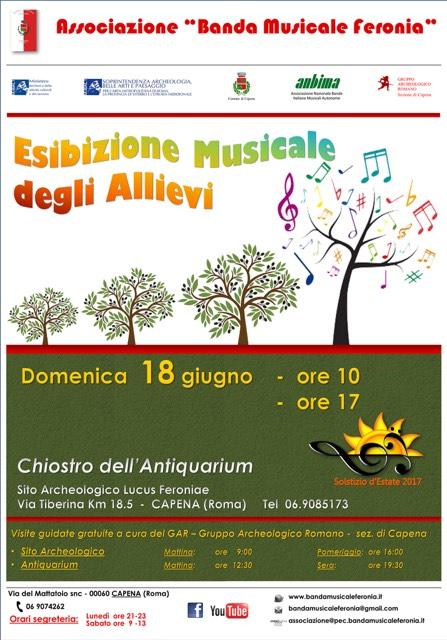 Esibizione musicale Allievi 'Banda Musicale Feronia'