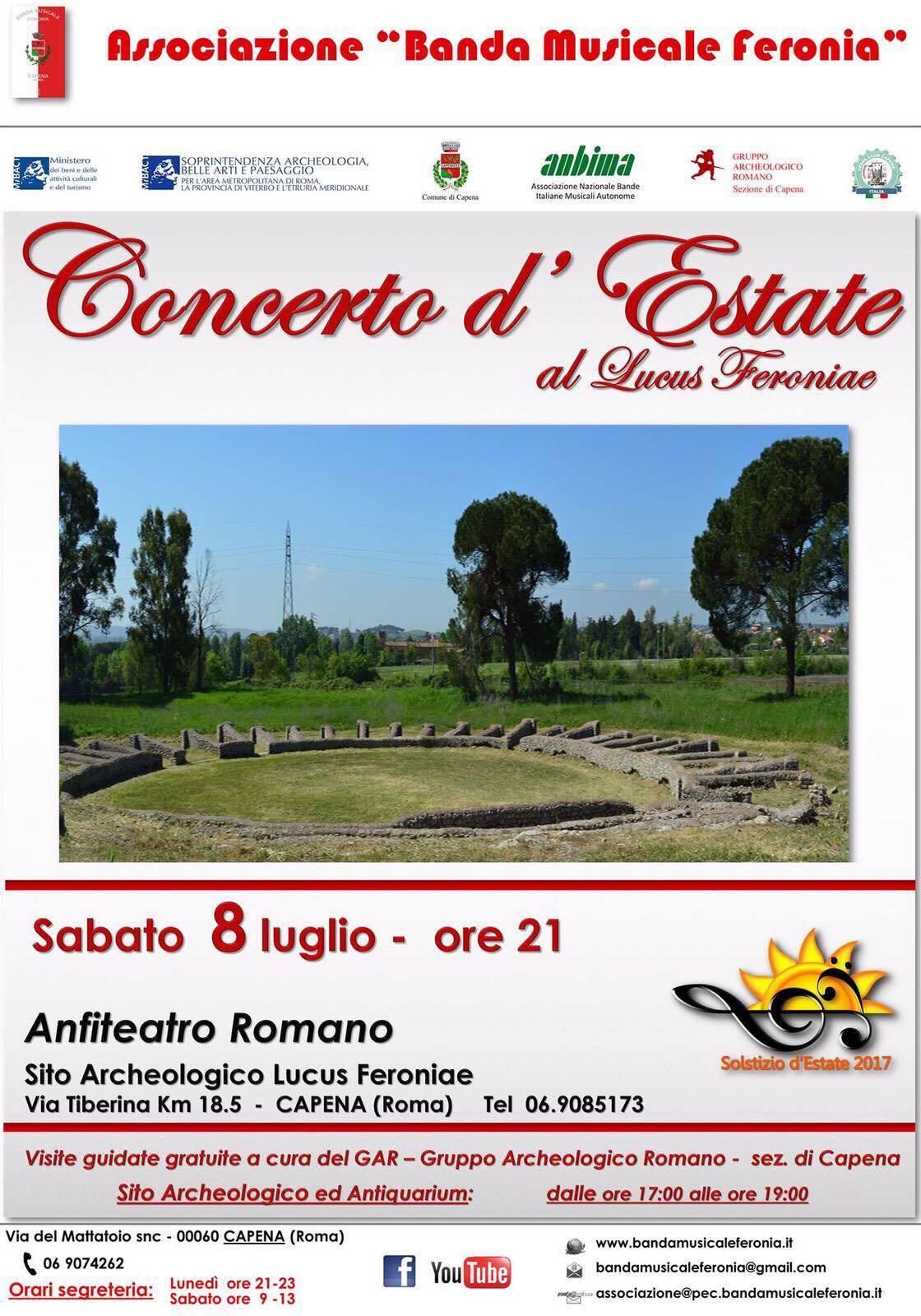 Concerto d'estate al Lucus Feroniae, 8 Luglio 2017