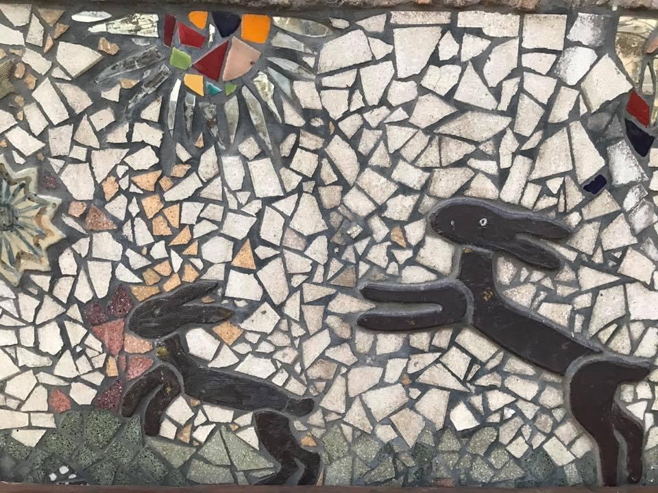 Le panchine mosaico