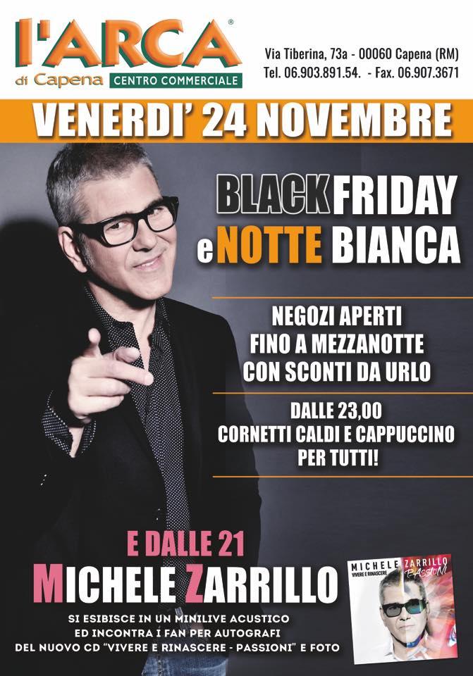 Michele Zarrillo live al CC Arca di Capena, 24 Novembre