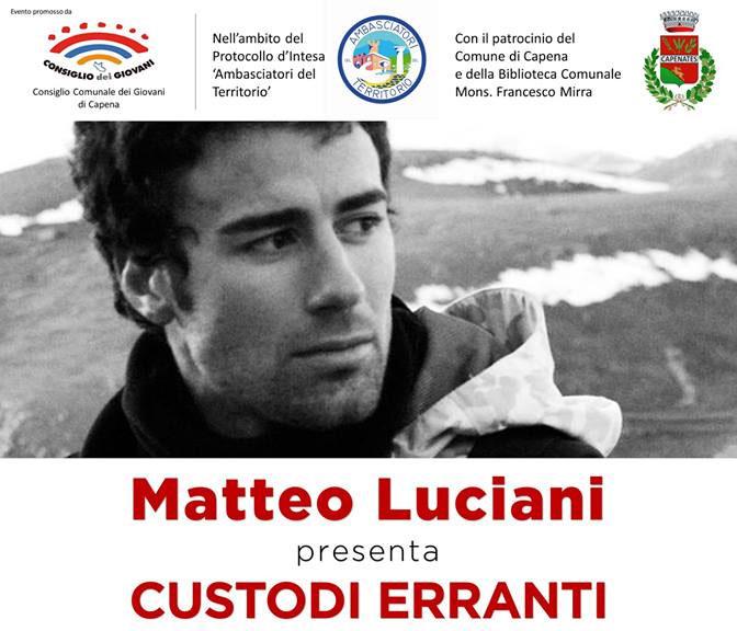 """Matteo Luciani presenta """"Custodi Erranti: uomini e lupi a confronto"""""""