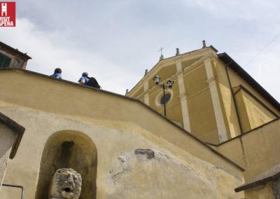 Statua leonina e Sant'Antonio