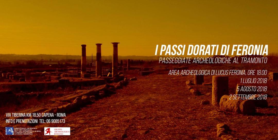 Passeggiate archeologiche al tramonto: I passi dorati di Feronia