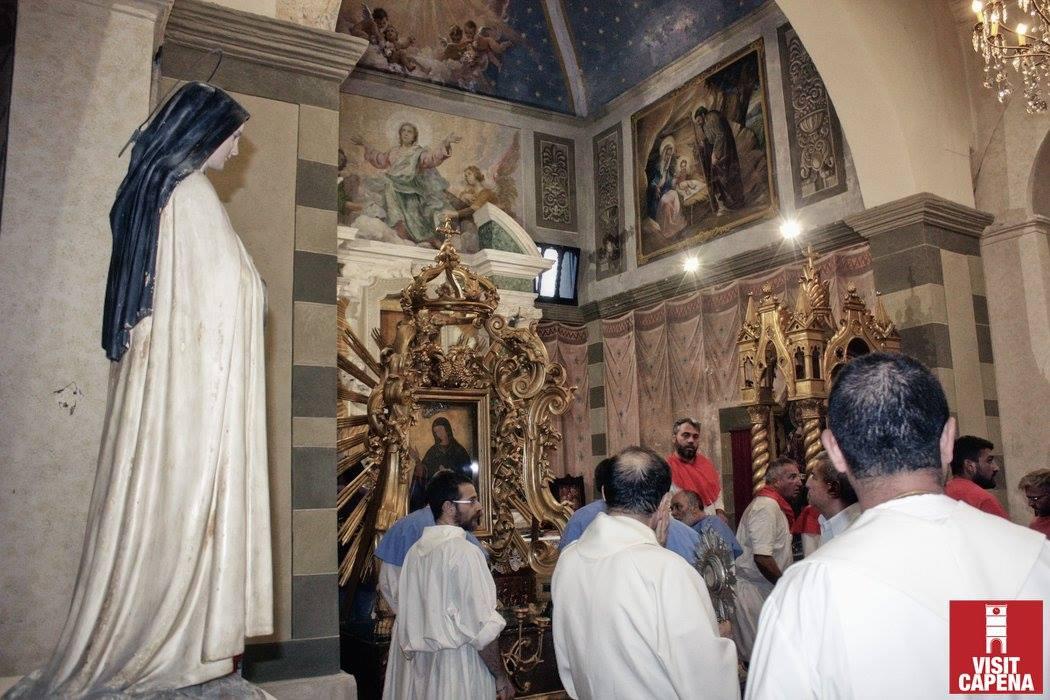 I Sepolcri dei Capenati, la Chiesa Di Santa Maria Delle Grazie