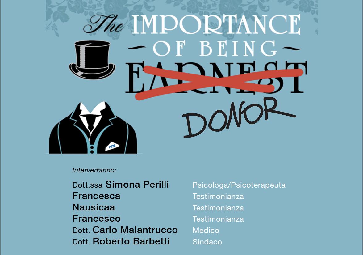 L'importanza di essere donatore: convegno 17 Novembre