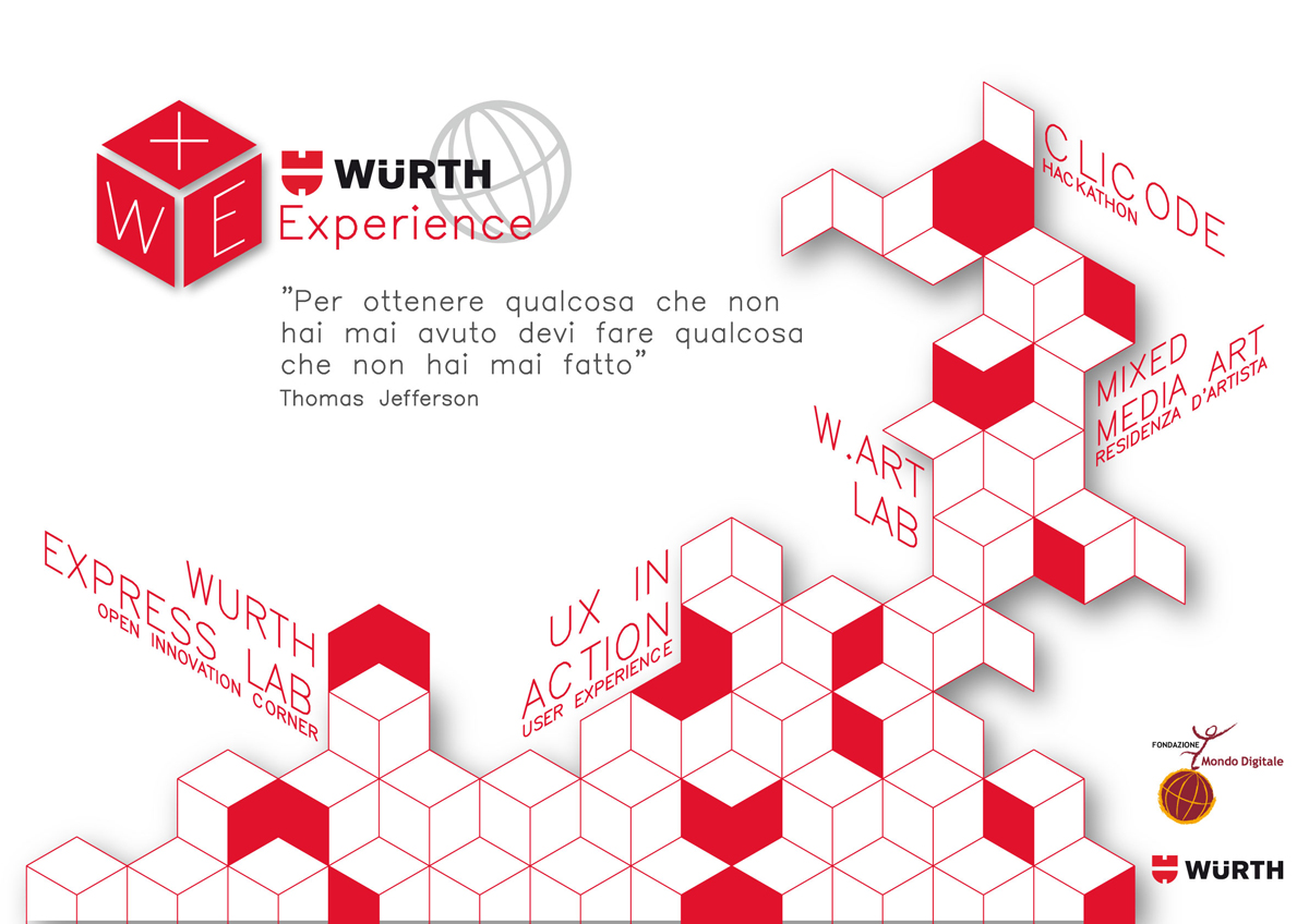 """Al via il progetto """"+WE. Würth Experience"""" tra Würth Italia e Fondazione Mondo Digitale"""