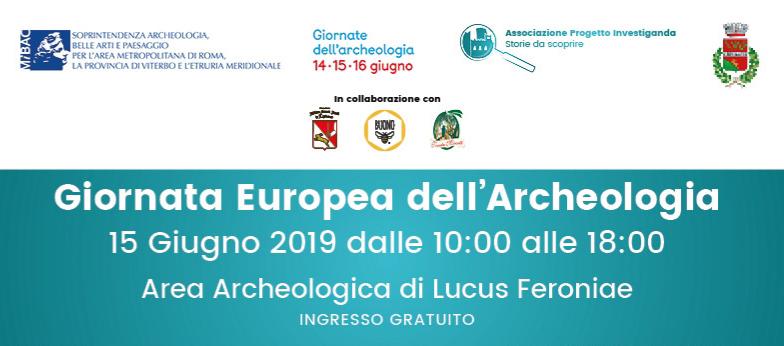 Giornata Europea dell'Archeologia, 15 Giugno 2019